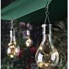 LED соларна лампа / ЛЕД крушка/ за двора и градината
